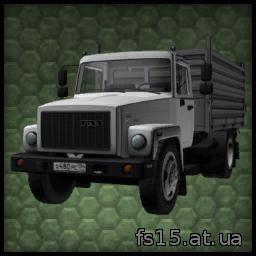 Мод грузовика ГАЗ CA3 05071 c прицепом Farming Simulator 05, 0015 скачать