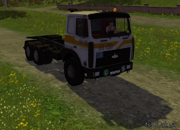 Мод грузовика MAZ-5516 v1.0 Farming Simulator 05, 0015 скачать